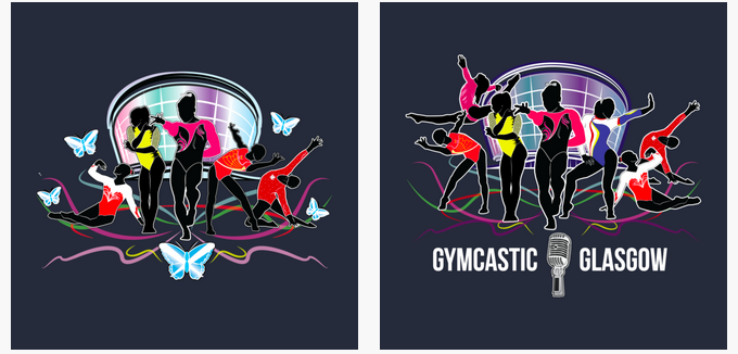 Gymcastic podcast Glasgow gymnastics world championships t-shirts baseball shirt