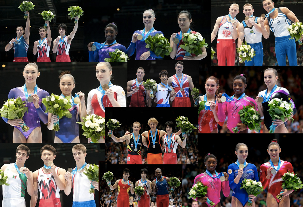 2013 gymnastics world championships event finals winners podium