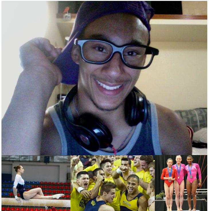 Nia dennis , bailie key, stacey ervin, michigan men's gymnastics,  victoria komova, raymond white