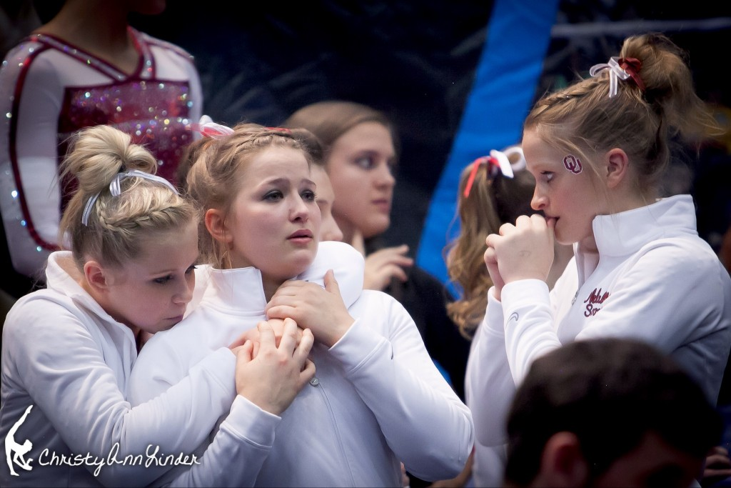 Oklahoma gymnastics wait to find out if they have won