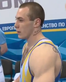 Ukrainian gymnast tattoo  neck Ihor Radivilov