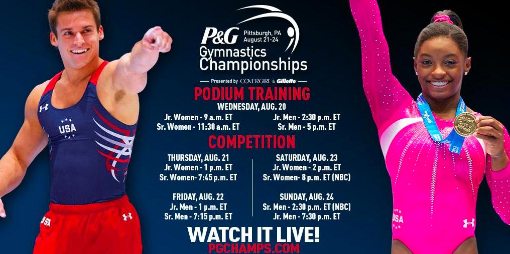 2014 P&G Gymnastics Championships live schedule