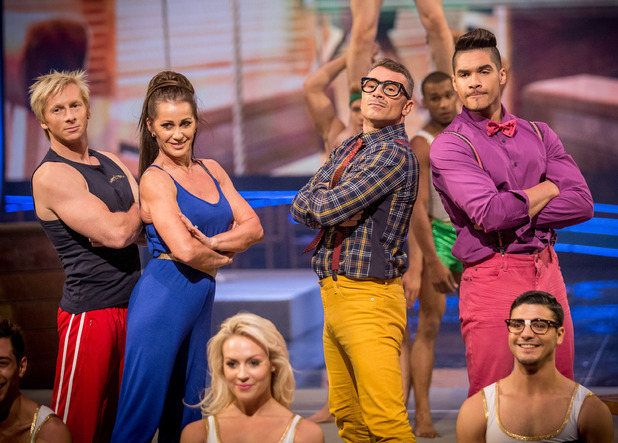 The judges perform on the Tumble finale.