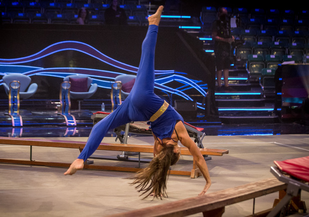 Nadia tumbles on BBC One's Tumble