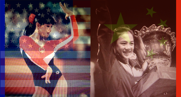 jiani wu at the 1984 olympics and as a child in china
