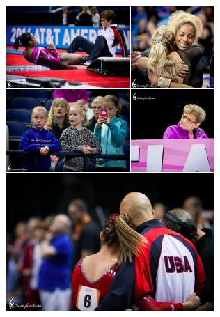A 2014 gymnastics photo collage