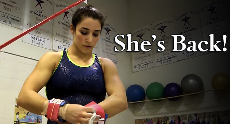 Raisman prepares for bars back on the national team