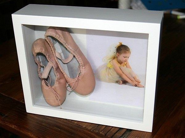 shadowbox gift for a gymnast