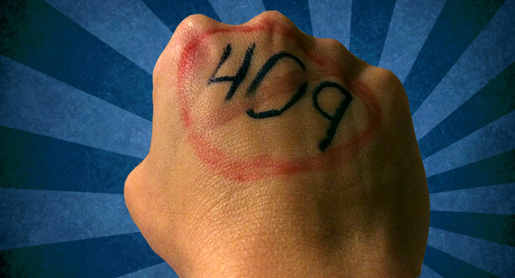 The PSU gymnastics team wrote 409 on their hands. Jessica is furious, find out why.