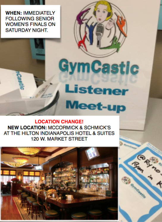 gymcastic the gymnastics podcast listener meet up details