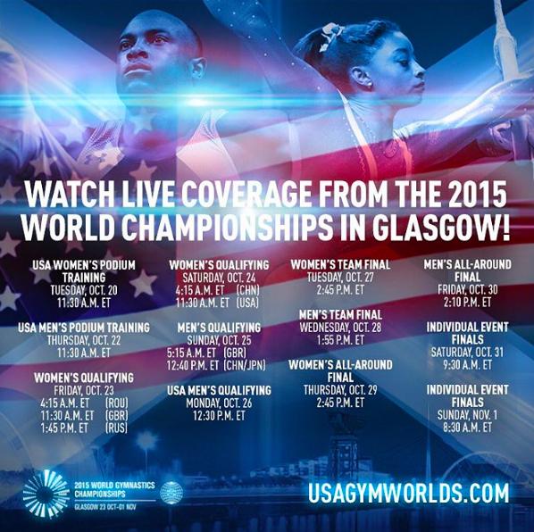 Worlds Live schedule