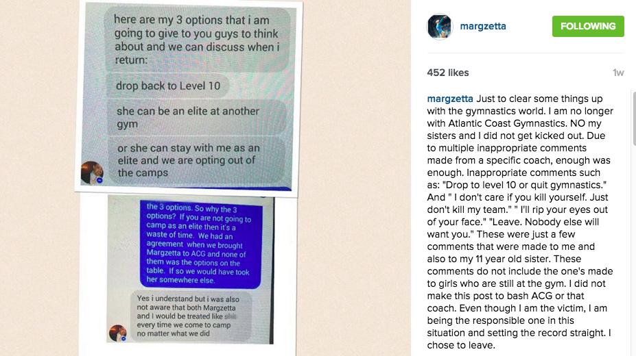 Margzetta Fraiser Coach Abuse Instagram