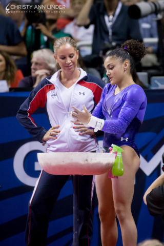 Laurie Hernandez and Maggie Haney