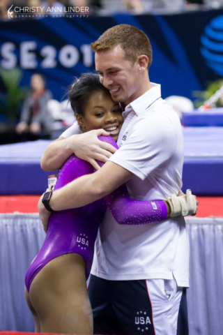 Gabby Douglas and Christian Gallardo