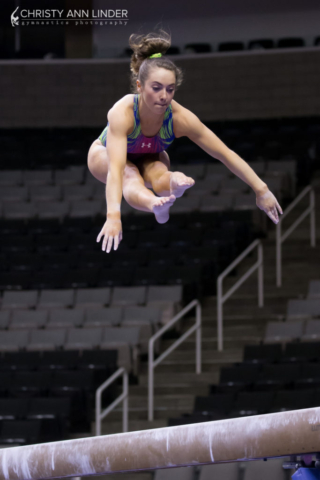 Christina Desiderio on beam