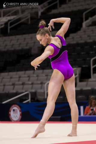 Rachel Gowey on floor