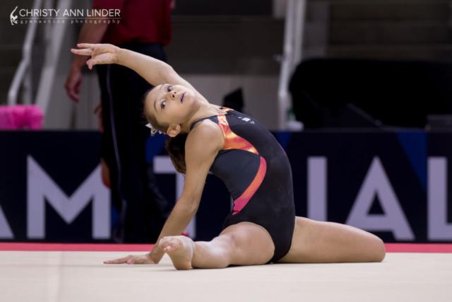 Emily Schild on floor
