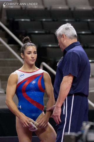 Aly Raisman and Mihai Brestyan chat