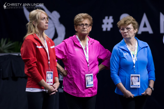 Rhonda Faehn, Martha Karolyi, and Tatiana Perskaia