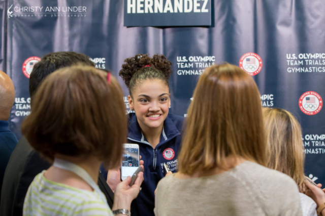 Laurie Hernandez captivates the media