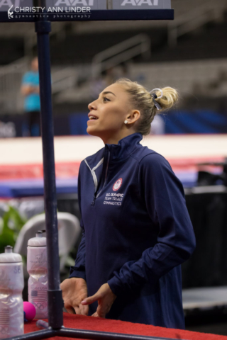 Ashton Locklear cheers on teammates