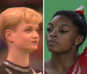 Khorkina vs. Biles