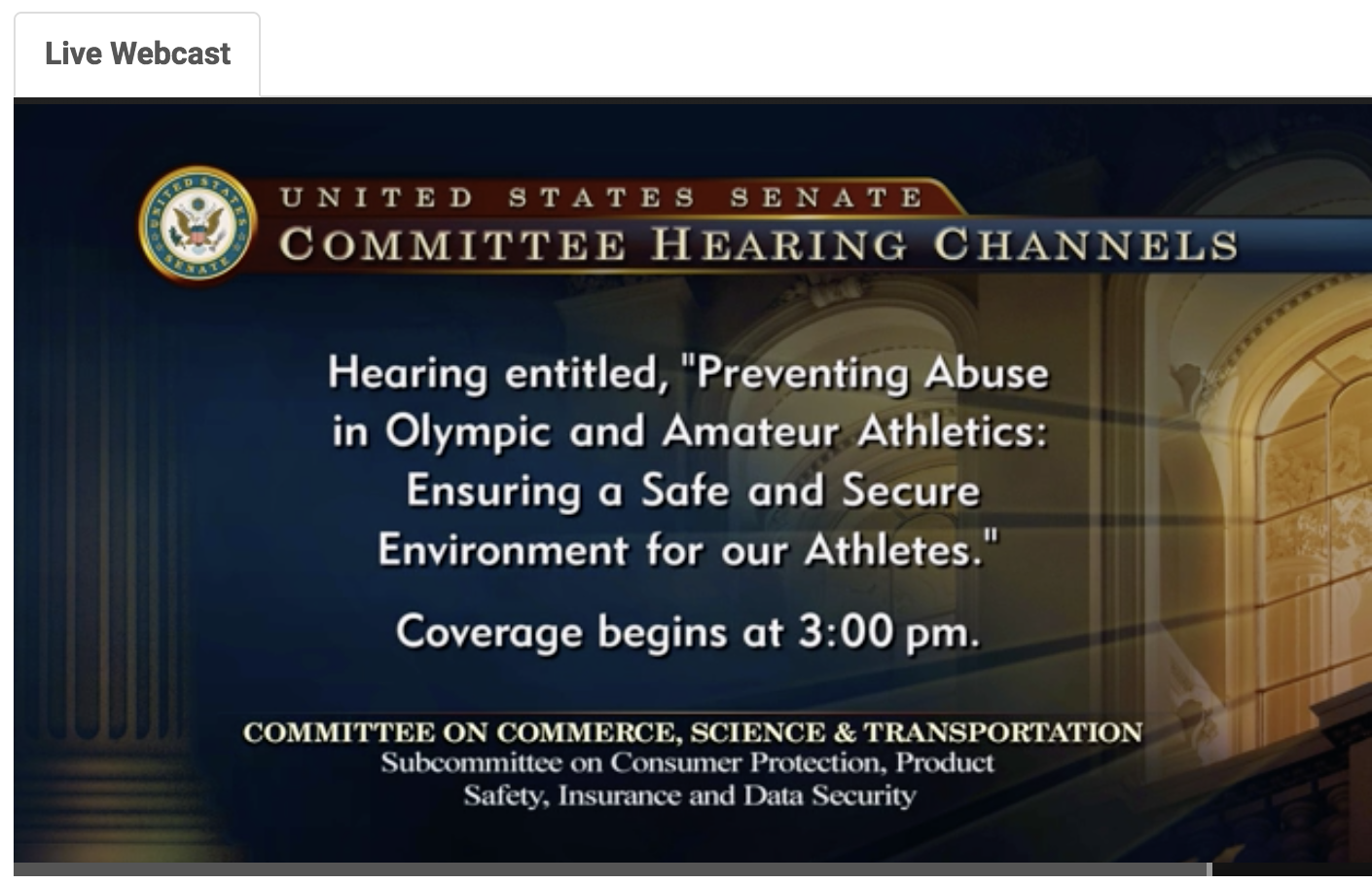 WATCH LIVE: Steve Penny & Rhonda Faehn Testify before Congress