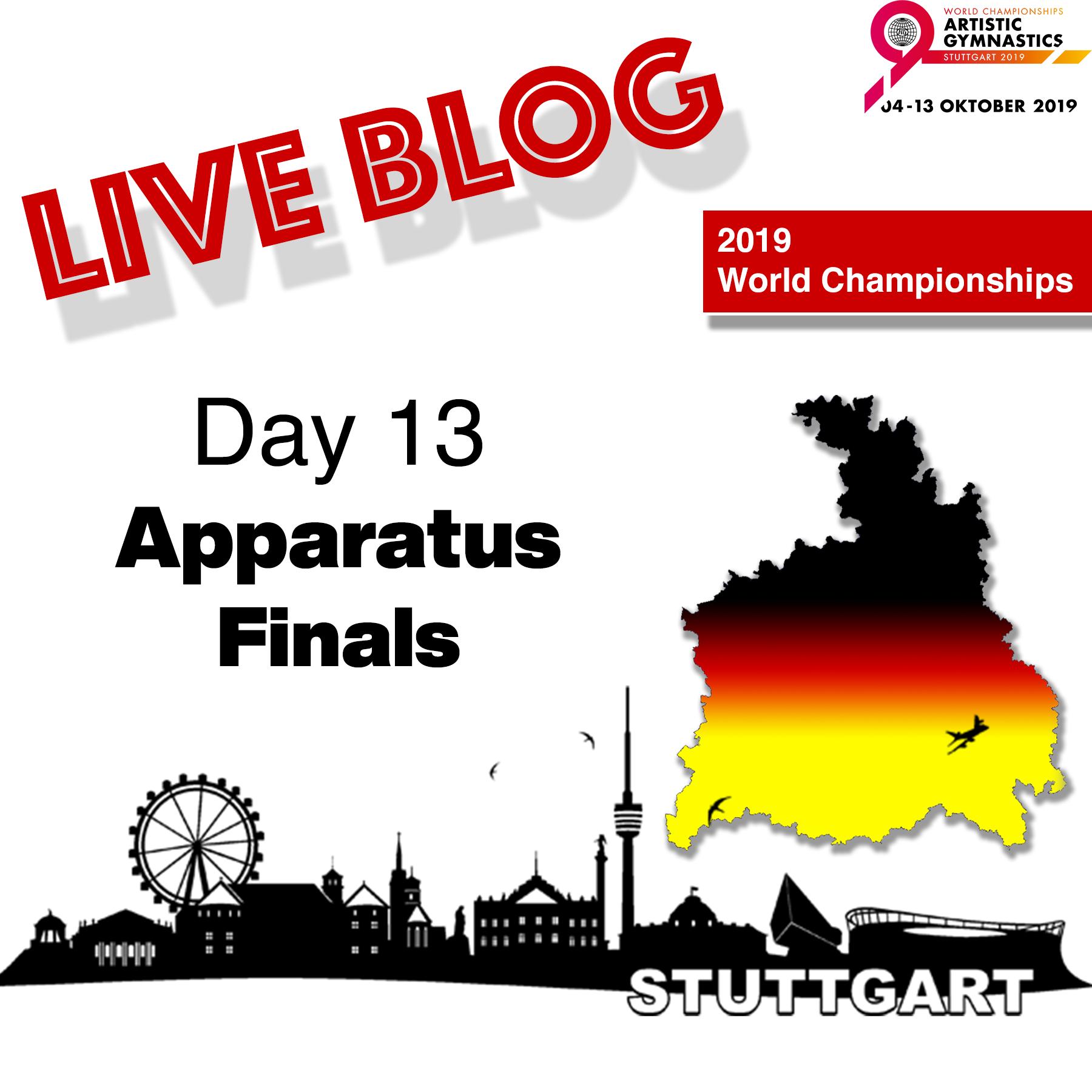 Live Blog: 2019 World Championships – Apparatus Final – Oct. 13th