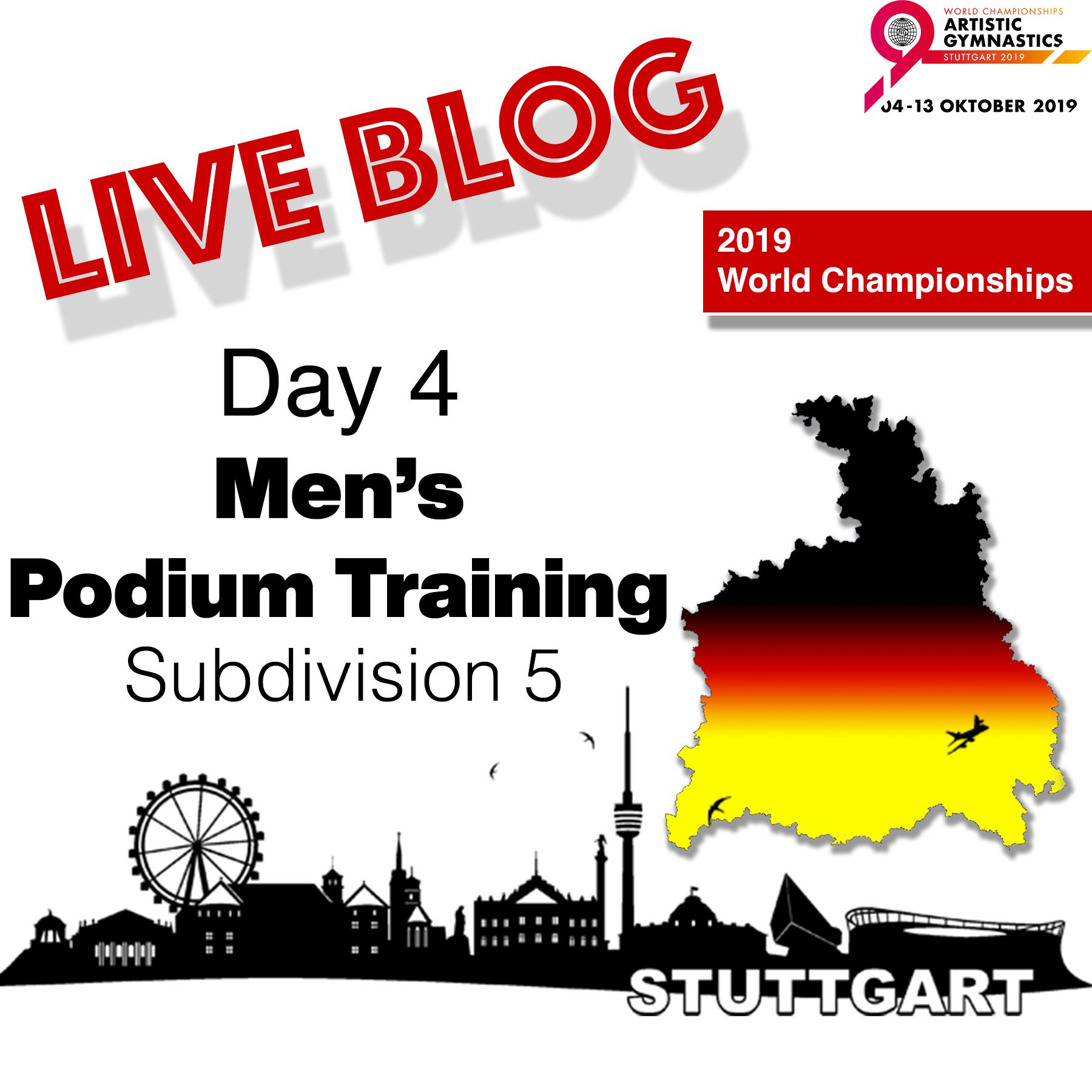 Live Blog: 2019 World Championships – MAG Podium Training – Sub Division 5, Oct. 3rd