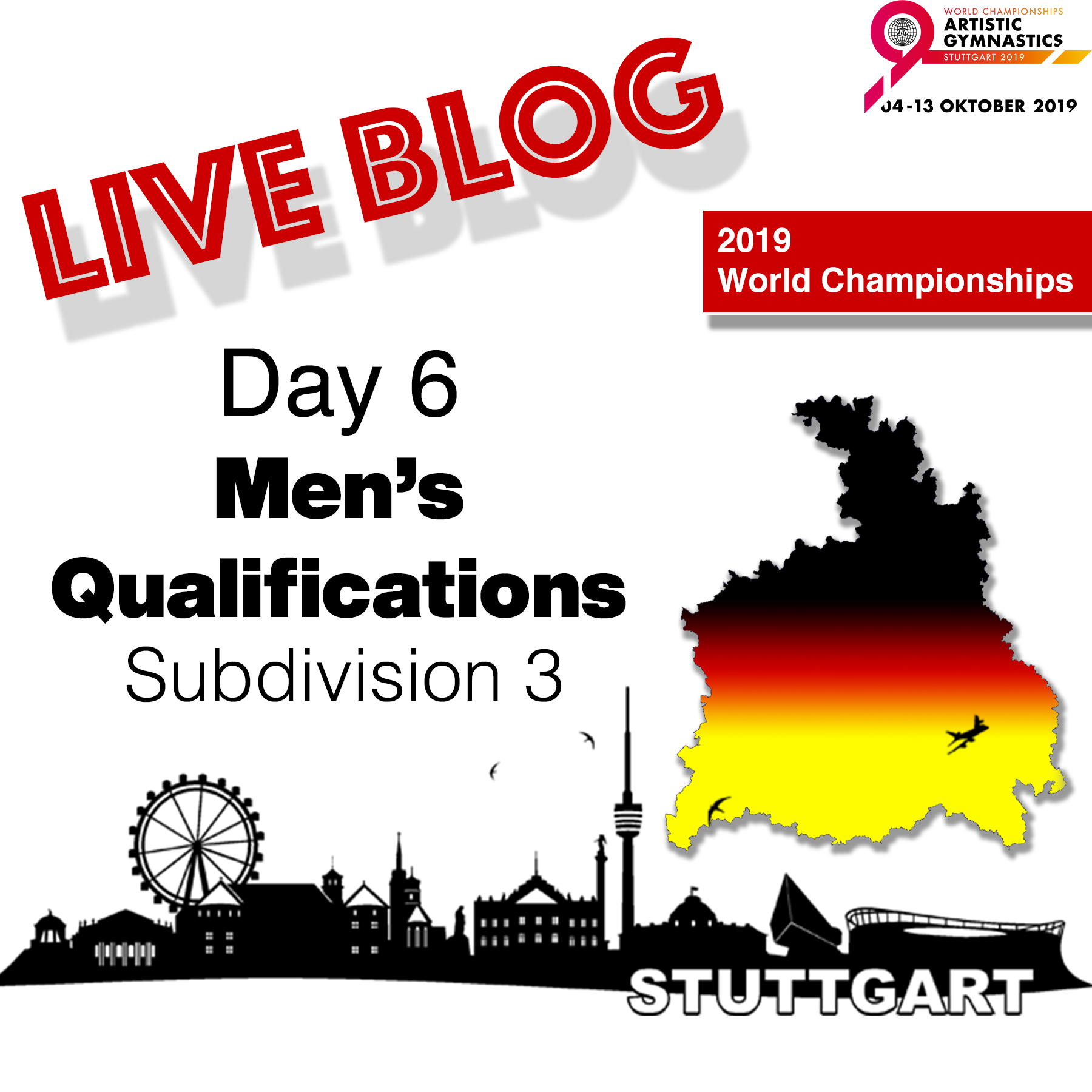 Live Blog: 2019 World Championships – MAG Qualifications – Sub Division 3, Oct. 6th