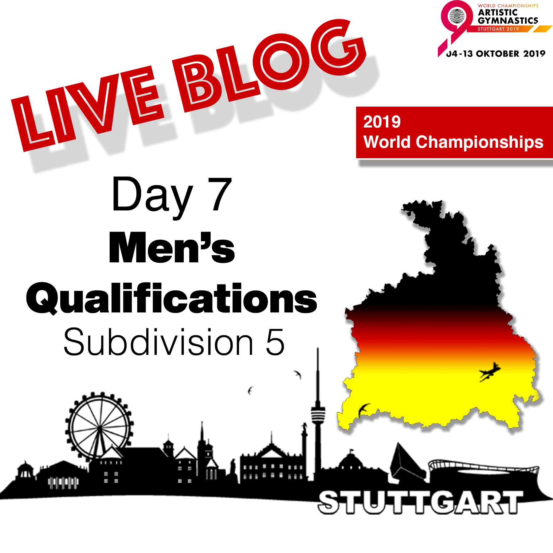 Live Blog: 2019 World Championships – MAG Qualifications – Sub Division 5, Oct. 7th