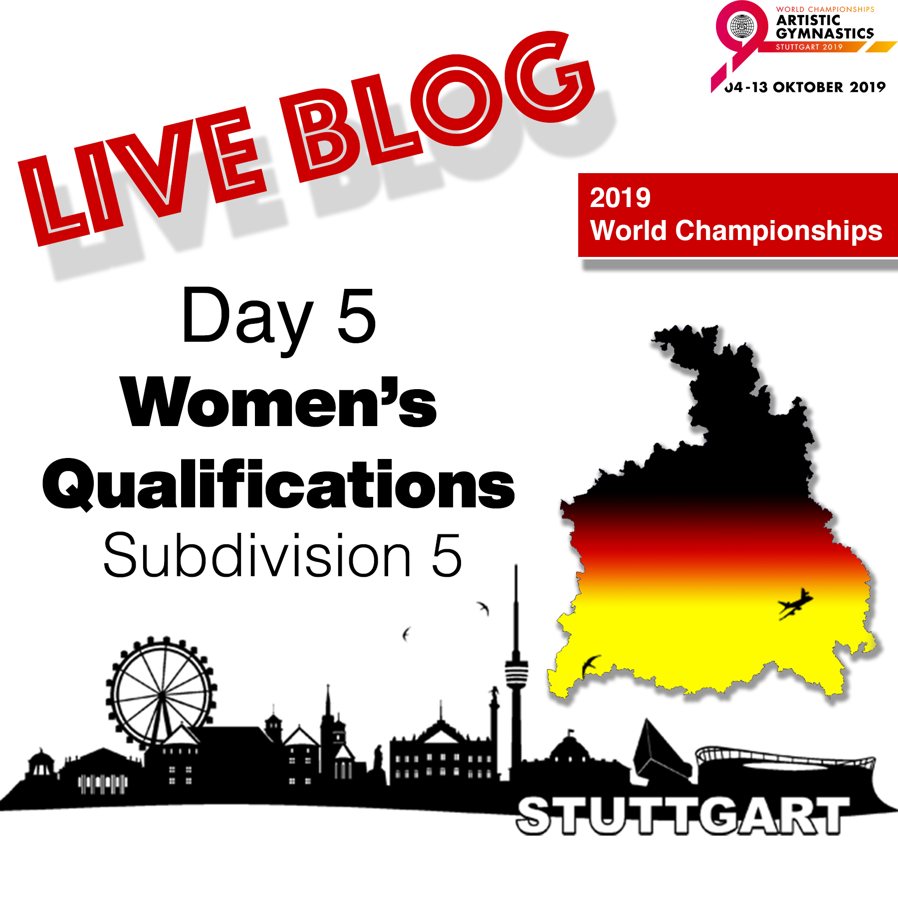 Live Blog: 2019 World Championships – WAG Qualifications – Sub Division 5, Oct. 4th
