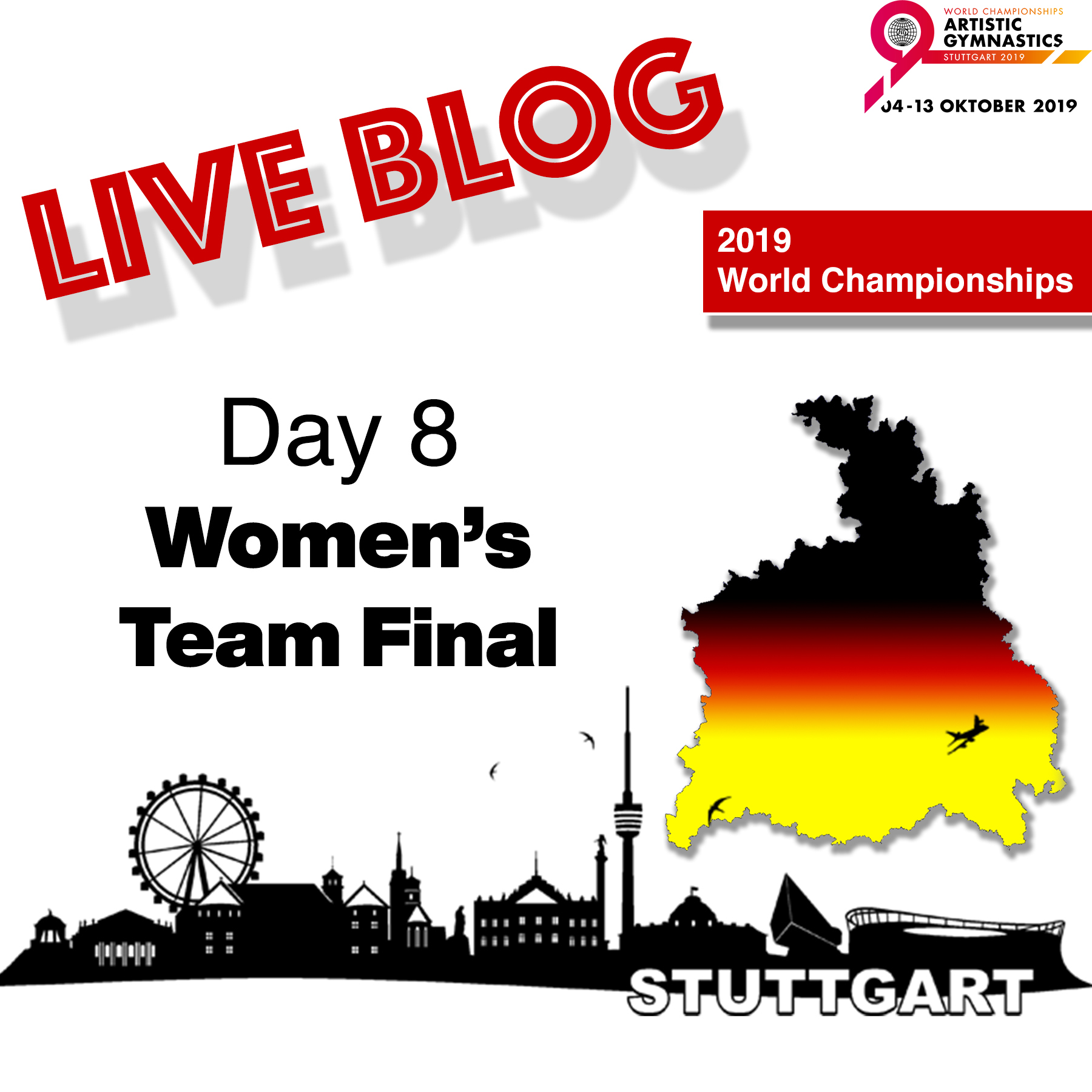 Live Blog: 2019 World Championships – Women's Team Final, Oct. 8th