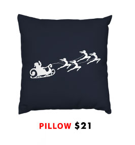 Gymnast Sleigh Pillow