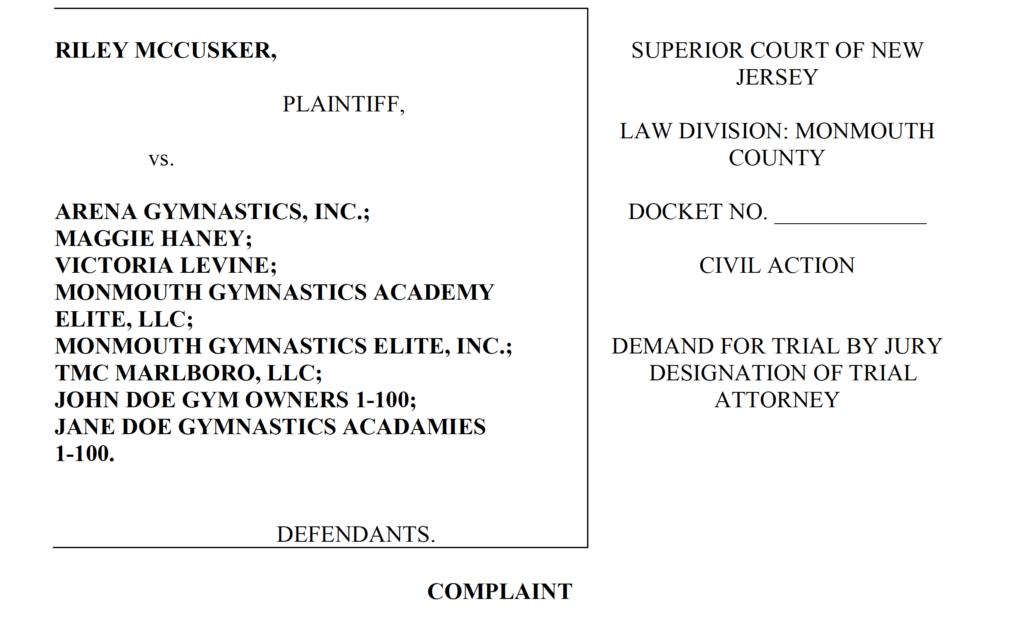 riley mcusker lawsuit
