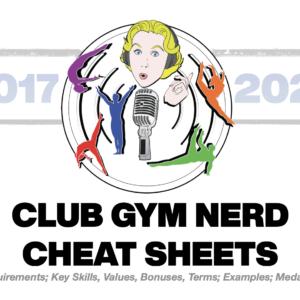 Club Gym Nerd Cheat Sheet '17-'21