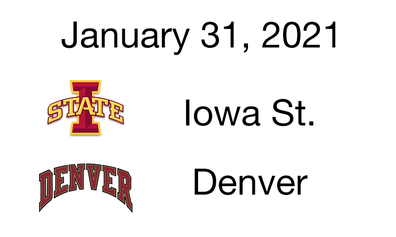 Live Blog: Iowa St. vs. Denver – January 31, 2021