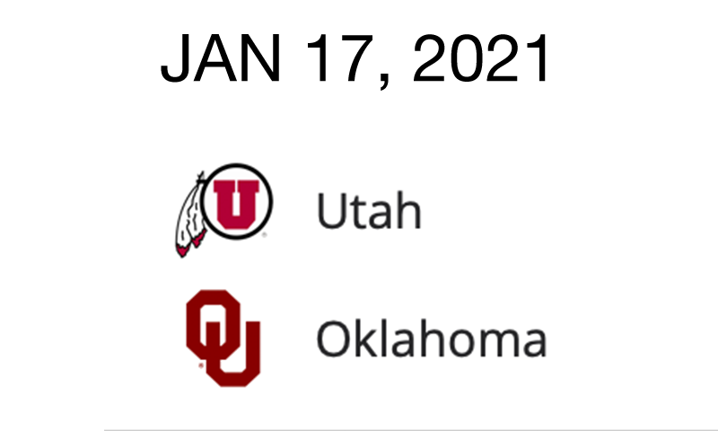 Live Blog: Utah vs. Oklahoma – January 17, 2021