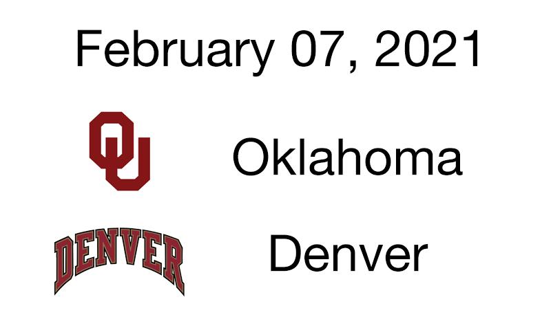 Live Blog: Oklahoma vs. Denver – February 07, 2021