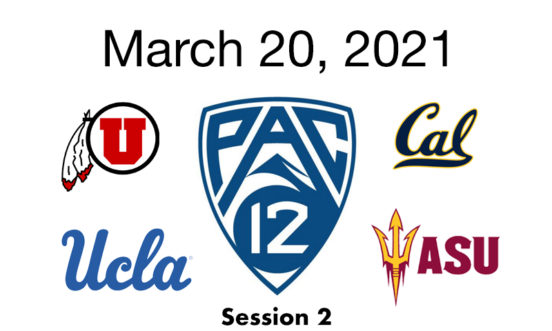 Live Blog: 2021 Pac-12 Conference Championships (session 2)