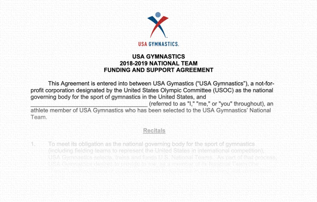 Athlete Agreement