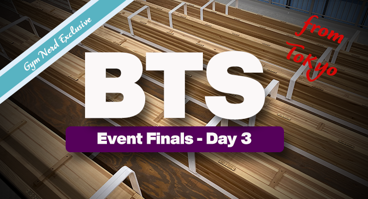 Behind The Scenes: Tokyo Olympics Event Finals Day Three Beam, High Bar and P-Bars